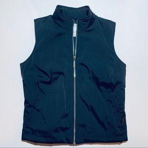 LOFT black vest with zipper and side pockets